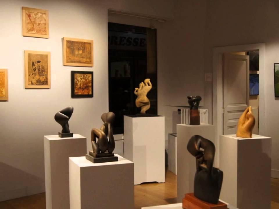 Pierre Martinon et Marcel Poulet à la Galerie de l'Ancienne Poste