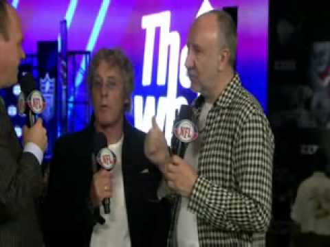 The Who interview at Super Bowl XLIV halftime press conference