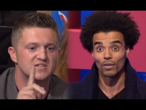EDL leader Tommy Robinson takes on rapper Akala
