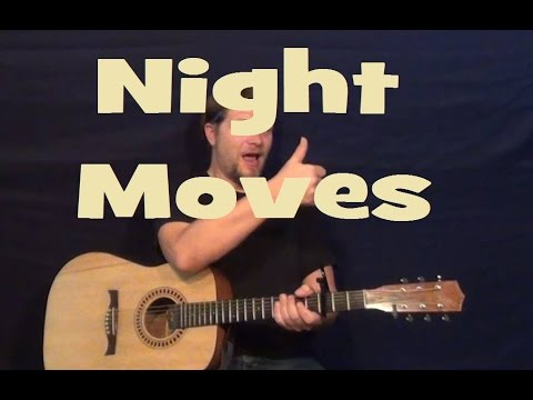 Night Moves (Bob Seger) Easy Guitar Lesson How to Play Tutorial Strum Chords