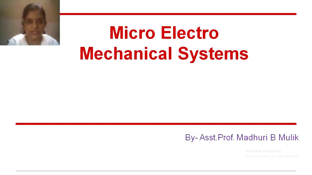 Download Introduction to MEMS-Lecture 1