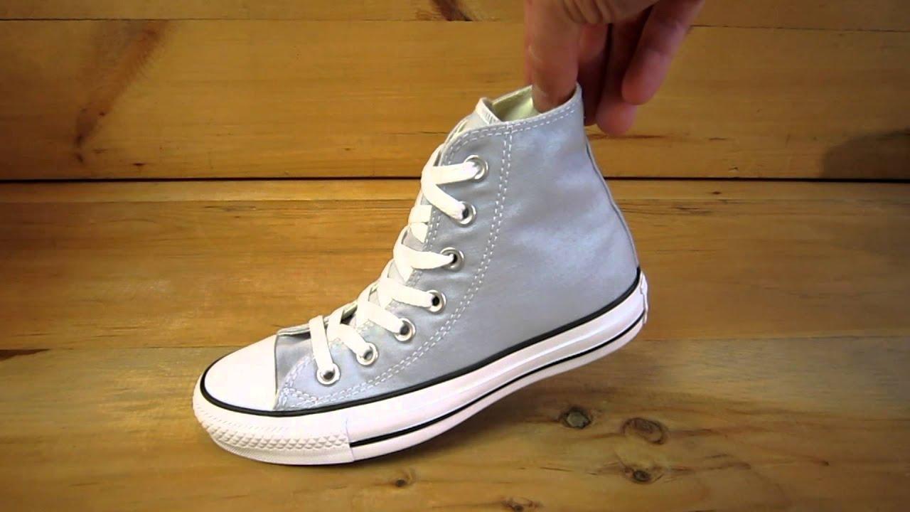 2087902bda4d Converse All Stars Chuck Taylor High Pearl Blue - YouTube