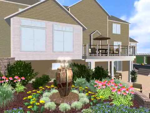 3D Design of Deck and Patio by The Landscape Design Center