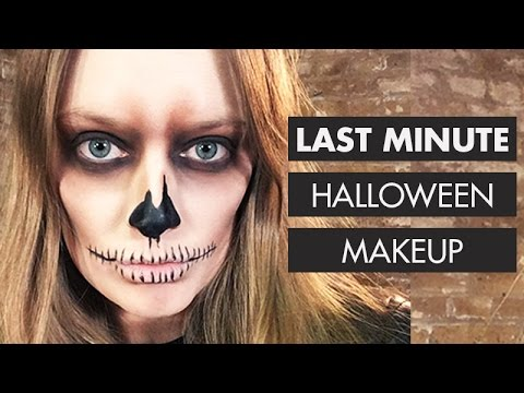 no spend 4 drugstore product last minute skull halloween makeup