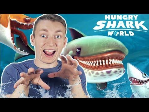 ОЧЕНЬ ГОЛОДНАЯ АКУЛА! :D || HUNGRY SHARK WORLD