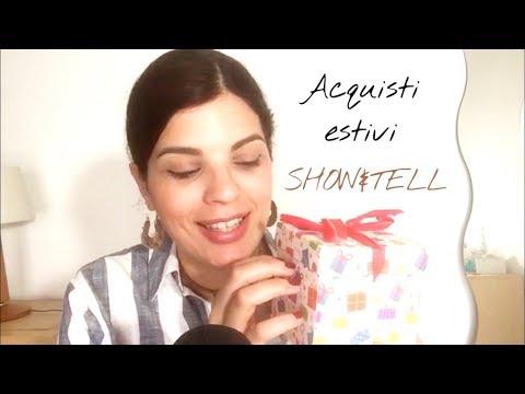 ASMR ITA - Primi acquisti estivi 👙👠👗 SHOW&TELL in whispering