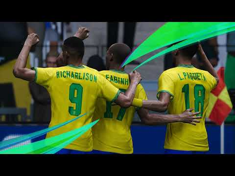 MEXICO vs BRAZIL - Final 1/2 Olympic Games TOKYO 2020 - Full Match & All Goals HD - PES 2021 Game |