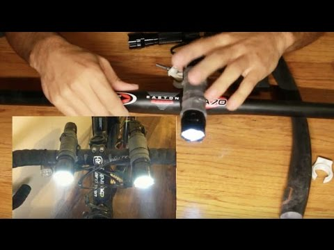 Flashlight Bicycle Light Mount (Using An InnerTube)