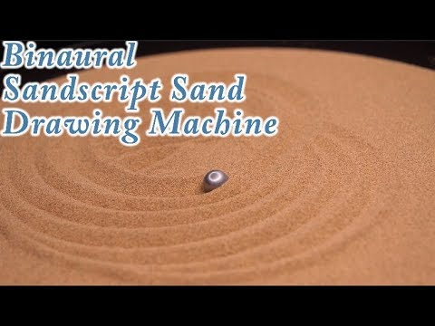 Extremely Satisfying ASMR: Binaural Sandscript Automatic Kinetic Art Sand Drawing Machine