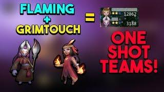 Grimtouch + Flamming Wizard One Shot Comp | FwuffyMilk Auto Chess