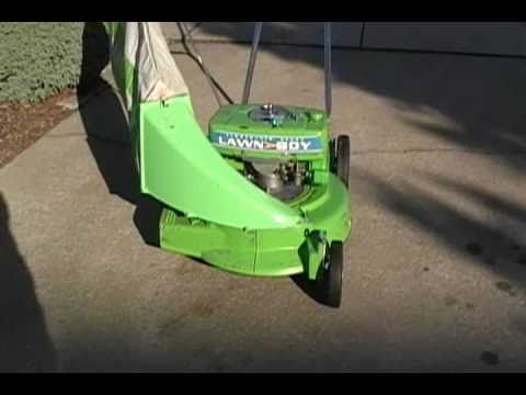 1964 Lawn Boy Model 5232 Bricktop With Bagger Youtube