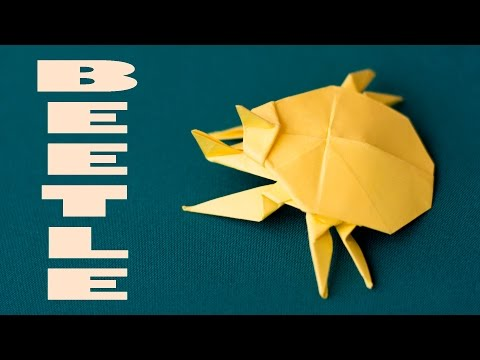 Amazing paper beetle. Paper origami insects