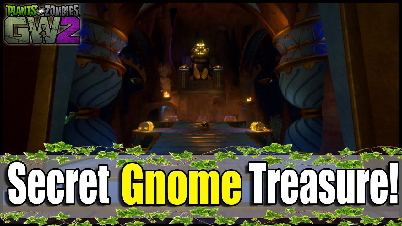 Plants vs Zombies GW2: Secret Room! 11 Treasure Chests, 600,000+ Coins, &  More! (Gnome Puzzle Room)