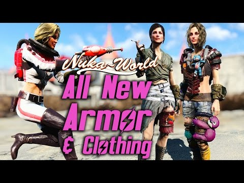 Fallout 4 Nuka-World DLC - All New Armor & Clothing Showcase