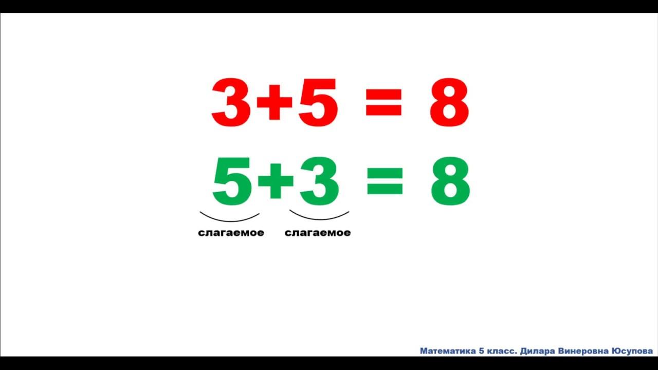Сложение натуральных чисел и свойства 5 класс урок 2