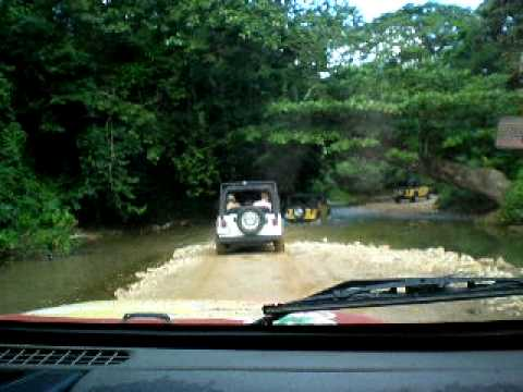 Off Road Through Water in the Dominican Republic