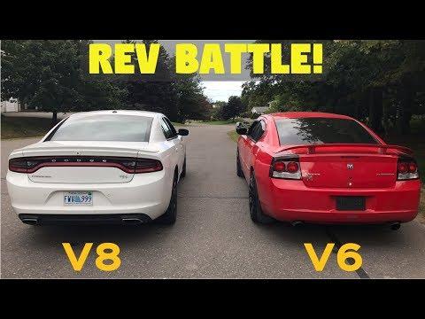 Dodge Charger Rev Battle! - 2017 R/T Stock vs. 2009 SXT Modded (V6 vs. V8)