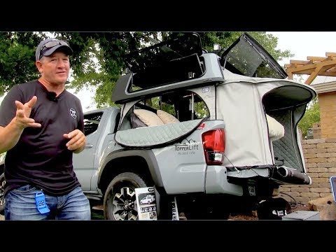 Toyota Tacoma | TopperLift Weekender Camper Package | Truck Bed Camper Tent | Power Raising Topper