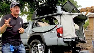 Truck Bed Camper Tent | Power Raising Topper | TopperEZLift Camper | Toyota Tacoma & Full Size Beds