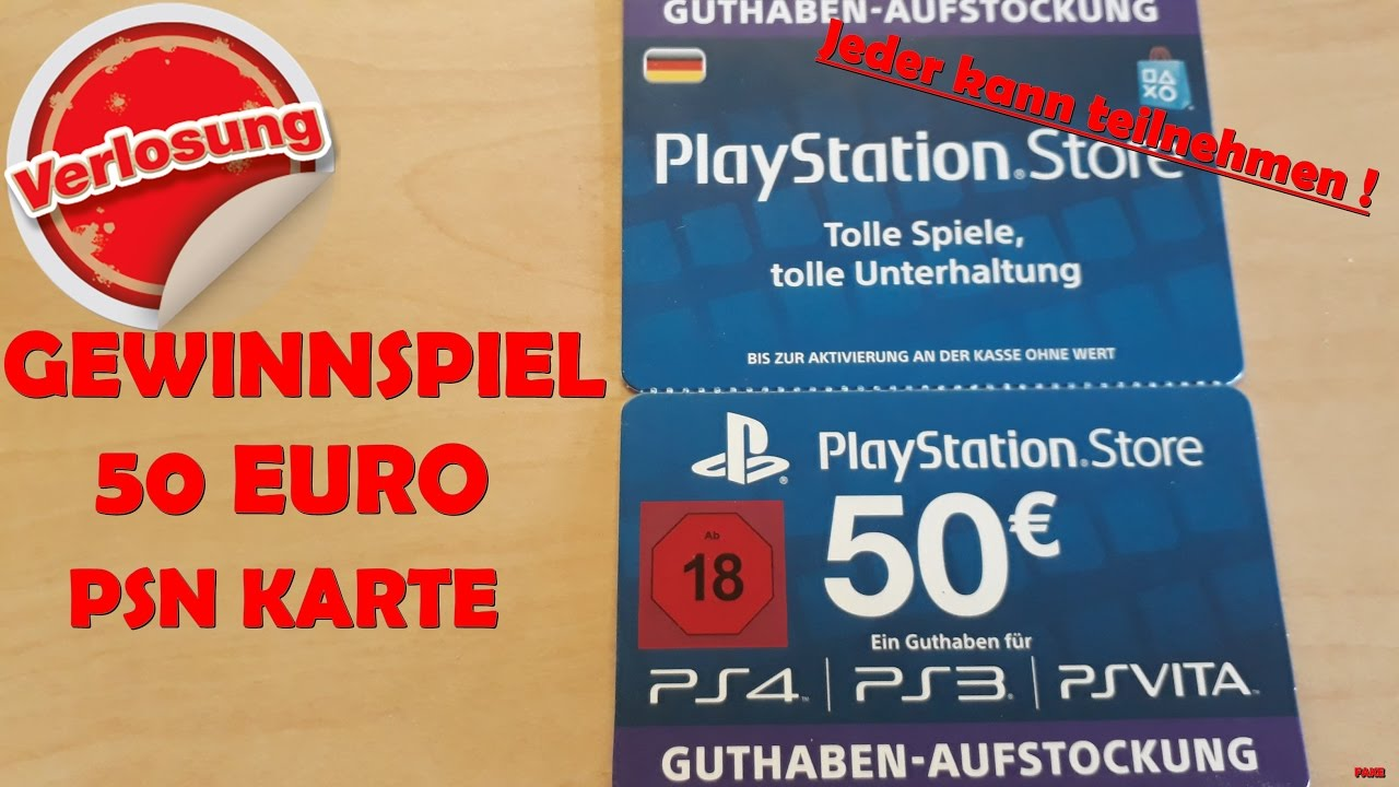 Ps Store Karte 50 Euro Psn Card Giveaway Free Psn Card