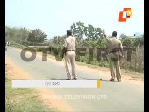 Tension in balasore town, police on alert
