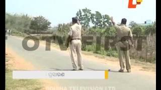 Tension in balasore town, police on alert