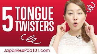 Video 5 Japanese Tongue Twisters download MP3, 3GP, MP4, WEBM, AVI, FLV Juli 2018