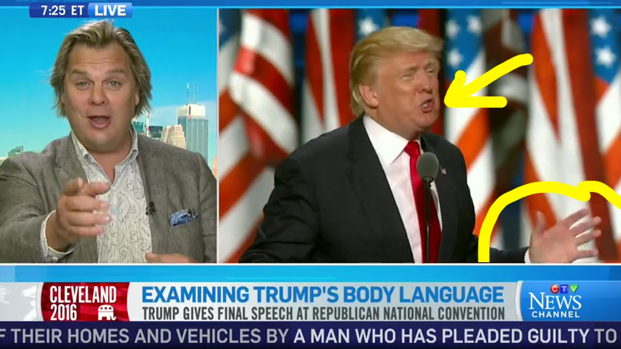 Donald Trump Body Language with Expert in Body Language Mark Bowden