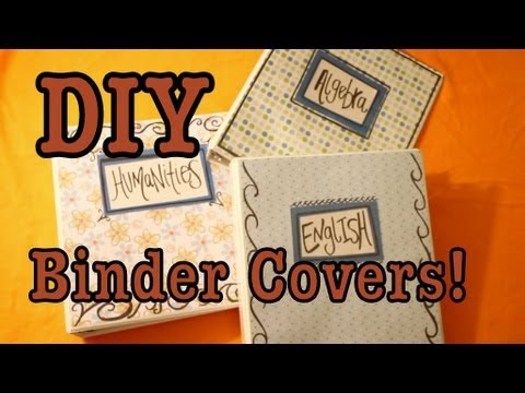 DIY Binder Covers For School! - YouTube - english binder cover