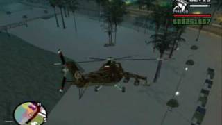 GTA SA: MI-24 Hind-D Ground Pounding