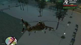 GTA SA: MI-24 Hind-D Ground Pounding