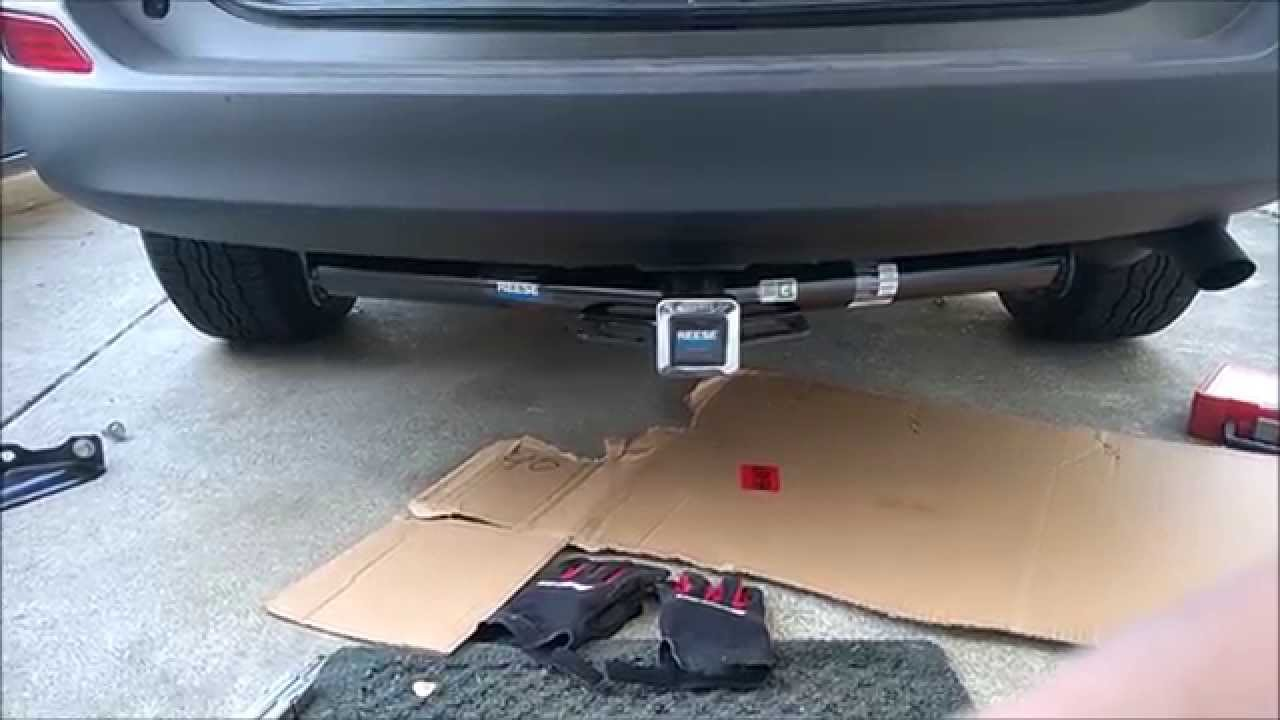 JaimeAstin Installing A Reese Tow Hitch On 2015 RAV4 YouTube - Install Trailer Hitch Rav4