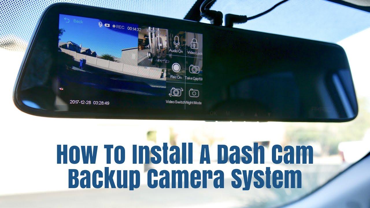 How To Install A Akaso Dash Cam Backup Camera System Youtube