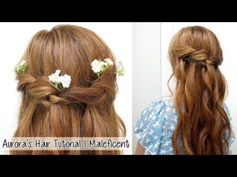 Waterfall Braid: Princess Aurora Twisted Hairstyle from Disney's Maleficent