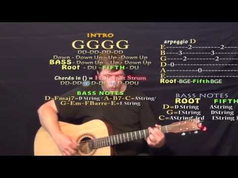 Ring of Fire - Fingerstyle Guitar Cover Lesson with Chords/Lyrics