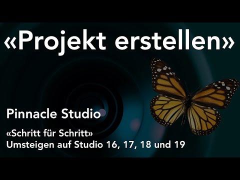 Neues Projekt erstellen mit Pinnacle Studio  - Umsteigen auf Studio 16, 17, 18 und 19