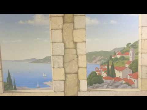 росписьстен арт искусство живопись ремонт дизайн прихожая дизайнинтерьера пейзаж картины