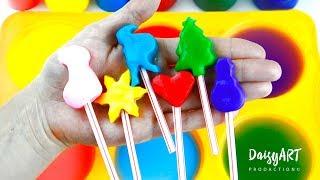 Как сделать Волшебную краску с цветами радуги и сюрпризом / Учим цвета
