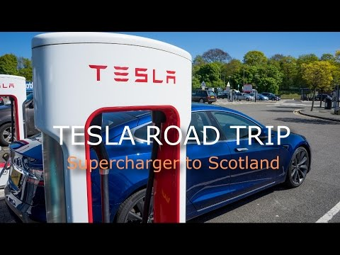 Tesla Superchargers UK Road trip to Scotland