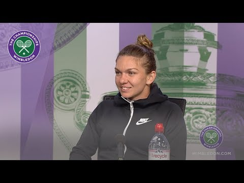 Simona Halep Semi-Final Press Conference Wimbledon 2019