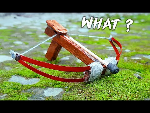 Как сделать Арбалет // Мини Арбалет своими руками из Заколок/из Дерева ! (How to make a Crossbow)