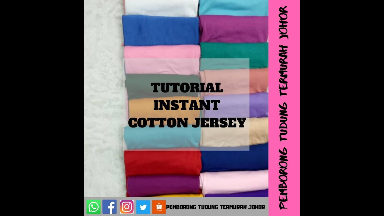 Tutorial Instant Cotton Jersey Youtube