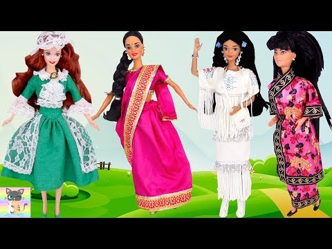 New Indian Barbie Doll! Also Chinese, Irish, And Native American Barbie Doll Toy Unboxing Review