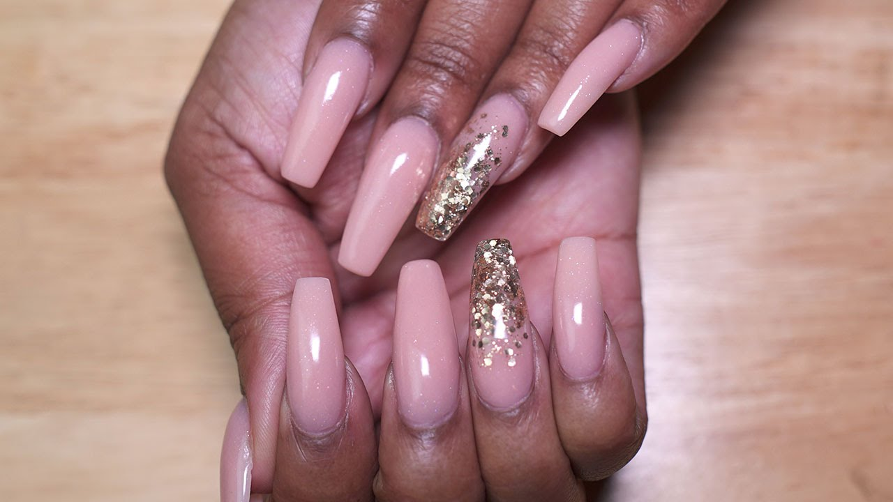 Acrylic Nails Coffin Shaped Pixie Pink