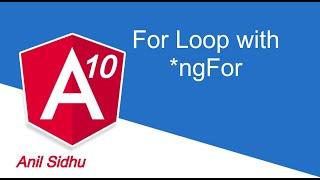 Angular 10 tutorial #14 for loop | *ngFor