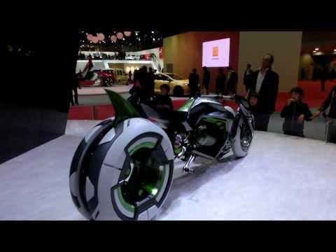 "Kawasaki 3-Wheel Electric Vehicle ""J"" Concept in Tokyo Motor Show 2013"
