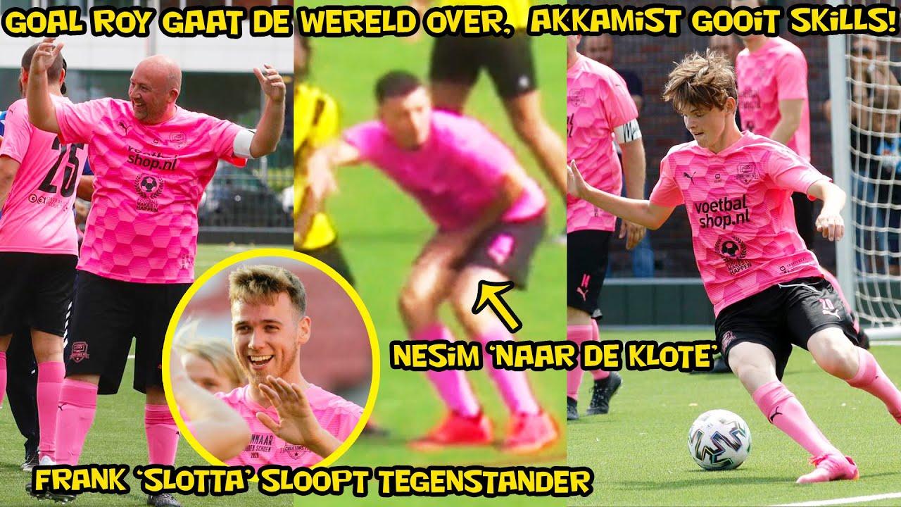 Frank 'Slotta' sloopt tegenstander, Nesim ''naar de klote'', Goal Roy de Coach gaat de wereld over!