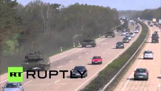 Germany: EXCLUSIVE: Leopard tanks startle German Sunday drivers