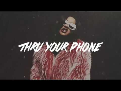 thru your phone - cardi b  (lyrics)  original audio