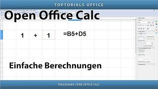EINFACHE BERECHNUNGEN / Grundlagen für Anfänger (OpenOffice Calc)